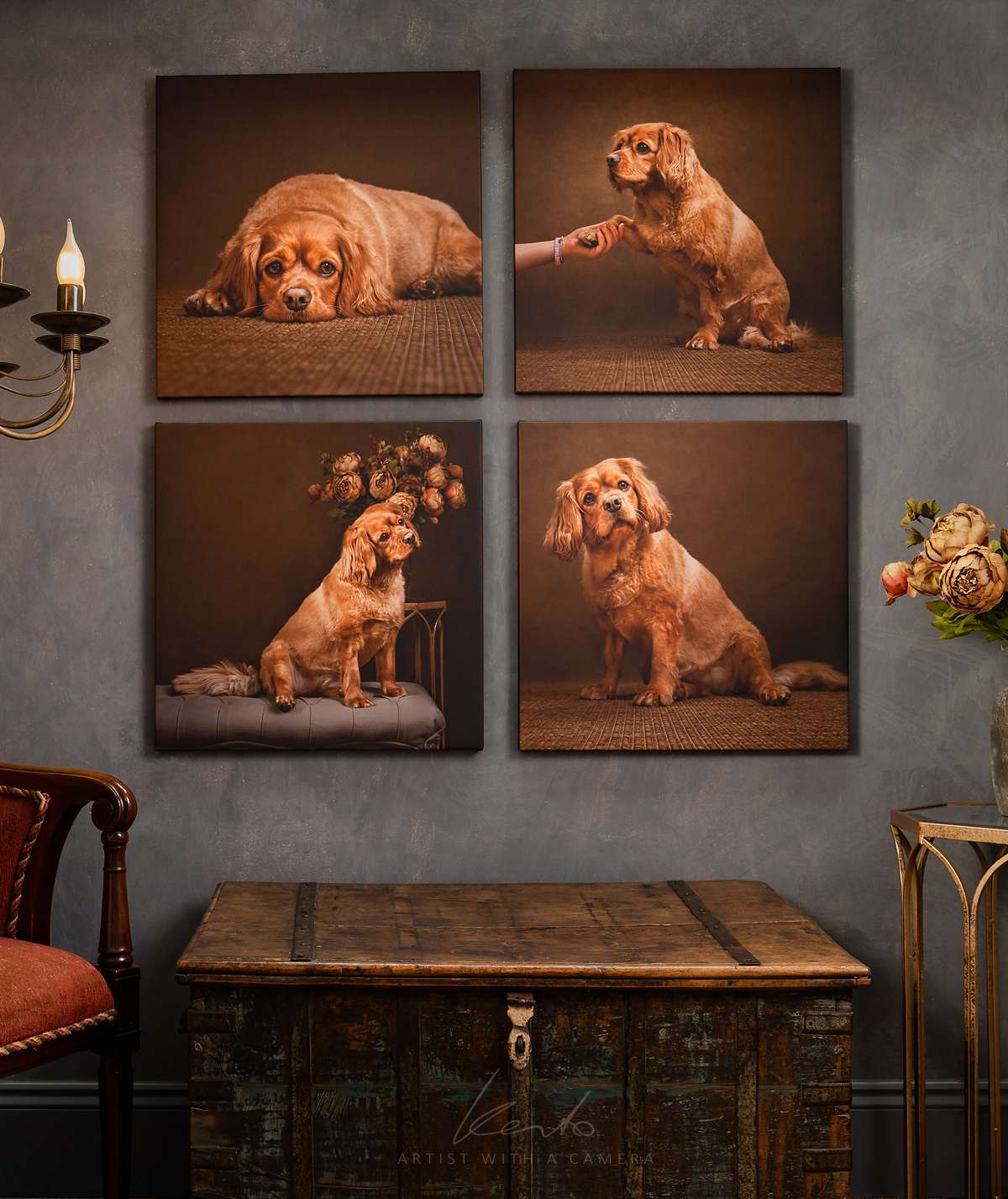 Kerto Studio pet portrait king charles cavalier