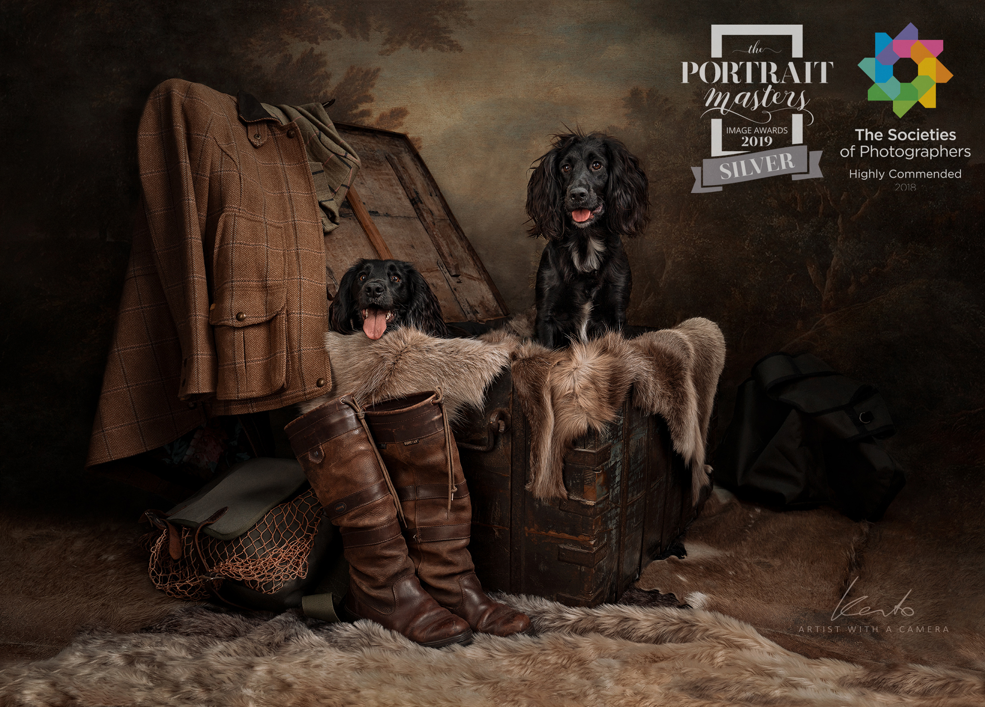 Kerto Studio award winning pet portraits gundogs spaniels